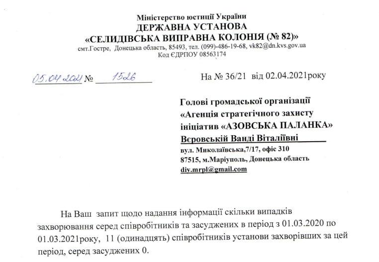 Як закриті установи Донецької області переживають Covid-19